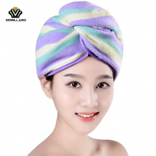 5 Colors Lovely Shower Romantic Newly Textile Useful Dry Microfiber Turban Quick Hair Hats Towels Bathing Women Towel Shower Cap