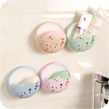 1pc Bathroom Suction Cups Soap Box Drainage Rack Plastic Sponge Storage Rack Kitchen Shelf Kitchen Holder