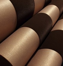 Modern Stripe  Velvet Flocked Wallpaper  Roll Background Dark Gold Brown papel de parede home decor
