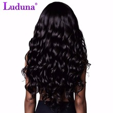 Brazilian Body Wave Human Hair Bundles 1pcs/lot Brazilian Hair Weave Bundles No-remy Hair Extension Natural Black Luduna Hair