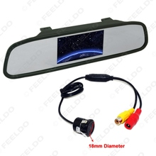 5Set 4.3inch TFT LCD Digital Car Rearview Monitor With Mirror For Reversing Backup Camera Kits #FD-3888(China)