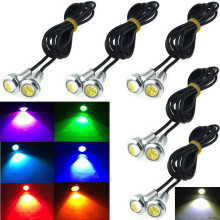 9W 12V 24V 18MM Silver LED Eagle Eye Light Car Fog DRL Daytime Reverse Parking Signal Yellow Amber Pink Green Ice Blue White Red