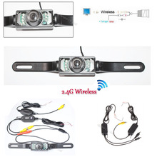 Wireless Parking System License Plate Car Reversing Cam Backup IR infrared Night Vision Rearview Camera transmitter receiver