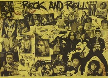 "Nostalgic posters strong retro flavor, series of works, ""roll rock"", a collection of posters"