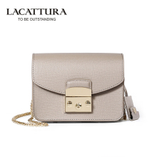 A1312 LACATTURA Brands Mini Flap bags crossbody Bags cow leather clutches bag bolsos women bolsa feminina shoulder messenger bag(China)
