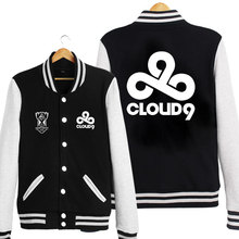 North American C9 LOL CLOUD9 Team Long Sleeve Baseball Jacket/Coat Sweatshirt Autumn Hoodie For Adult Women Men Outwear Cosplay