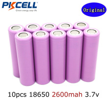 10pcs pkcell 2016  new original ICR 18650B /18650 3.7v Li ion battery 2600 Mah at 3.7v for E-cigarette + FREE SHIPPING