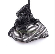 Black Nylon Mesh Net Bag Pouch Golf Tennis 48 Balls Holder Hold Ball Storage Closure Training Aid Durable(China)