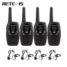 4pcs Kids Radio Walkie Talkie RETEVIS RT628 0.5W UHF 446MHz PMR Frequency Portable Ham Radio Hf Transceiver+4pcs Earpiece A1026B(China)