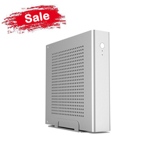 Free Shipping! Aluminum PC case, Silver HTPC Case Support 170*170(mm) mini ITX Motherboard, Ultra Mini ITX Case 200*200*45(mm)