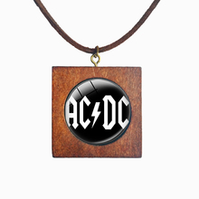 Band Series New Arrival Accessories Rock And Roll Band AC/DC Letter Logo Pendant ACDC Square Necklace Jewelry(China)