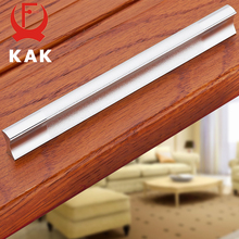 5PCS KAK Kitchen Cabinet Handles Drawer Pulls Aluminum Alloy Door Knobs Holder Case Box Puller Stick Furniture Handle Hardware(China)