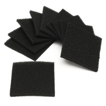 Different Quality 10 pcs Activated Carbon Filter Sponge For 493 Solder Smoke Absorber ESD Fume Extractor(China)
