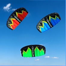 Dual Line Power Kite 2 Sqm Easy Flying Traction Kite Outdoor Sport Kiteboarding Kitesurfing Trainer Kite 3 Colors