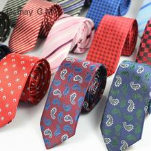 New Men's necktie Fashion Korean Cashew flower 6cm tie wedding party suits Ties and accessories(China)