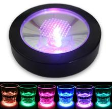 120pcs RGB Color Changing LED Coaster Flashing Light Beer Wine Glass Drinking Bottle Cup Mat Coaster Club Bar(China)