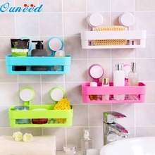 Ouneed Happy Gifts Bathroom Storage Holder Shelf Shower Caddy Tool Organizer Rack Basket Sucker Cup(China)