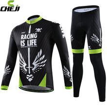 Buy Cheji Mens Long sleeve Bicycle Clothing Cycling Jersey sets breathable Quick-Dry autumn male cycling bike wear 2017 New for $51.21 in AliExpress store