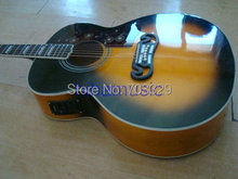 In stock acoustic guitar sj200 model with fishman EQ  free shipping vintage sunburst real wood body