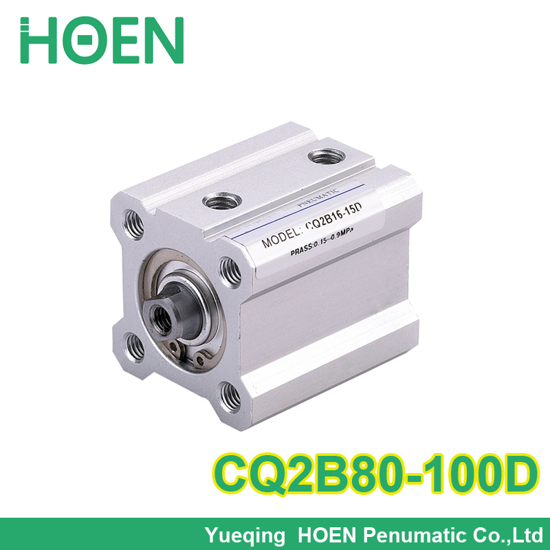 CQ2B80*100 SMC Type CQ2B series CQ2B80-100  Double Action single rod thin type Pneumatic Compact Cylinder with high quality<br>