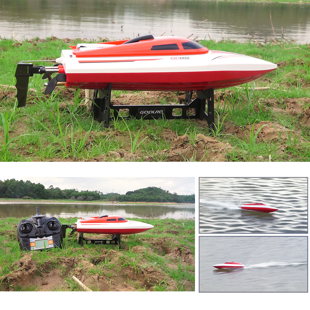 GoolRC RC Boat GC002 2.4G Remote Controll 180 Flip 20KM/H High Speed Electric RC Racing Boat RC Ship Toys for Boy Gifts(China (Mainland))