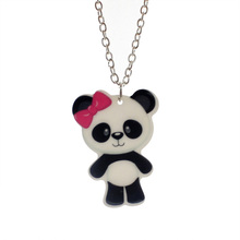 "Trusta 2017 Fashion Girls Kids Gift Jewelry Cute Monkey/Horse/Owl Pendant 16"" Short Chain Necklace Drop Shipping KS133(China)"
