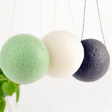 Natural Konnyaku Konjac Sponge Jelly Fiber Face Wash Cleansing Sponge Puff Exfoliator Cleaner