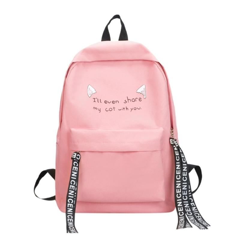 304147c4dbc0 Women Simple Casual Nylon Zipper Backpacks Rucksack Travel Bag Teen Girls  Shoulder School Bags Features  The fashion version of the type concise but  not ...
