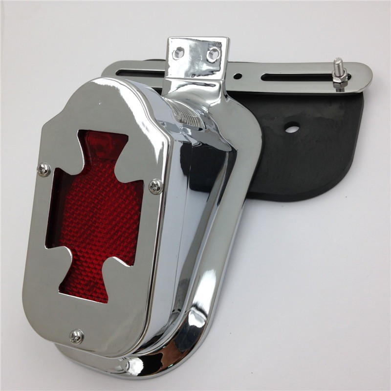 Aftermarket free shipping motorcycle accessories tail light motorcycle Red Skull Brake Tail Light Signal For Harley Davidson Bik<br>