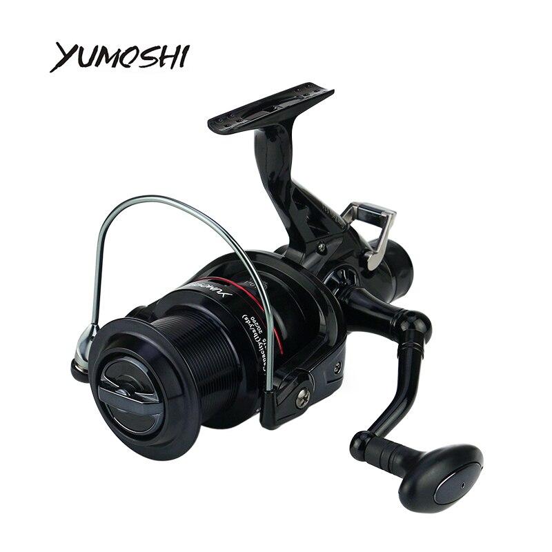 2017 NEW YUMOSHI Fishing Reel 10+1 Ball Bearings 5.2:1 Front rear brake KM50 60 CNC rocker arm Guide structure <br>