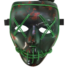 Halloween Mask Light Up Funny Mask Wire Light Up Neon Mask LEDfrom The Purge Election Year Great for Festival Cosplay Costume(China)