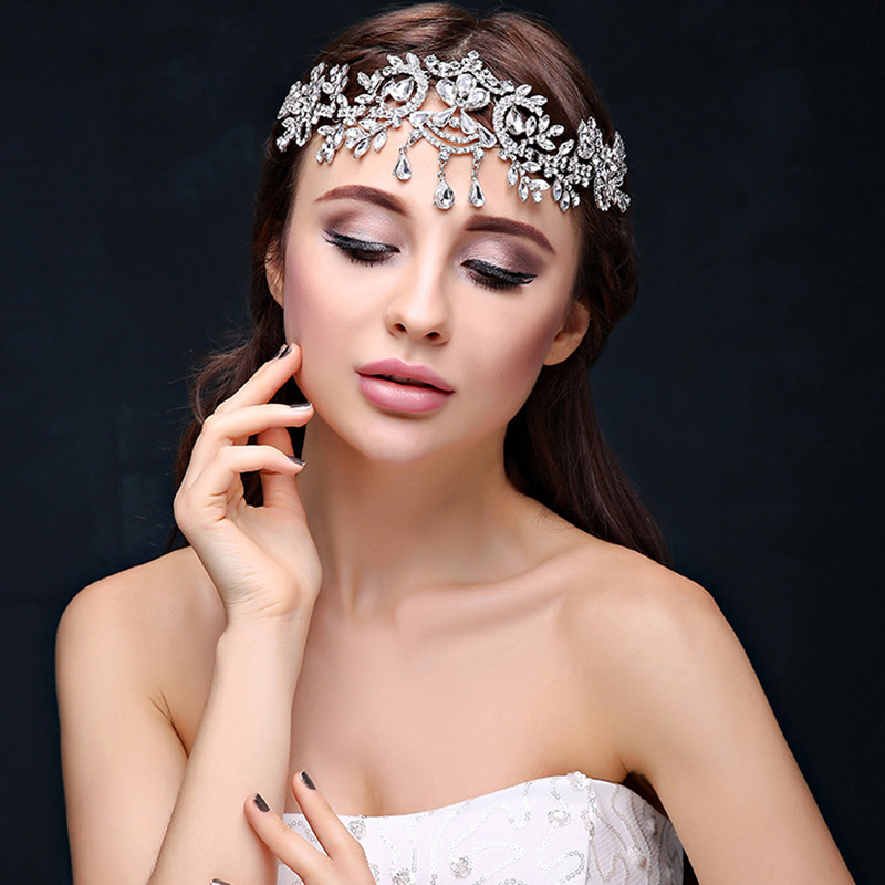 India Frontlet Forehead Thailand Party Prom Good Headdress Church Banquet Celebration Pageant Women Bride Bridesmaids Girls Star