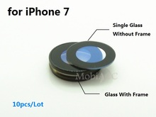 10pcs/Lot Original Camera Lens for iPhone 7 ; Sapphire Crystal Single Glass With/ Without Frame for iPhone 7 4.7(China)
