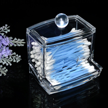Clear Acrylic Cotton Swab Q-tip Storage Holder Box Cosmetic Makeup Case J2Y(China)