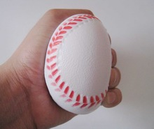 Free shipping 6.3CM diameter pu foam material baseball stress ball,pu baseball squeeze ball 6.3cm pu foam free shipping(China)