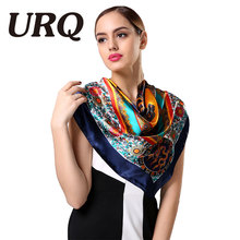 90*90cm polyester square scarf Fashion large square scarf printed satin silk scarves bandana Retro Style 90cm Scarf S9A9143(China)