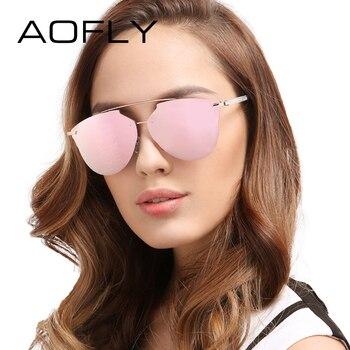 Aofly moda estilo óculos de sol das mulheres óculos de sol marca de luxo designer de senhora verão feminino shades uv400 lunette de soleil femme