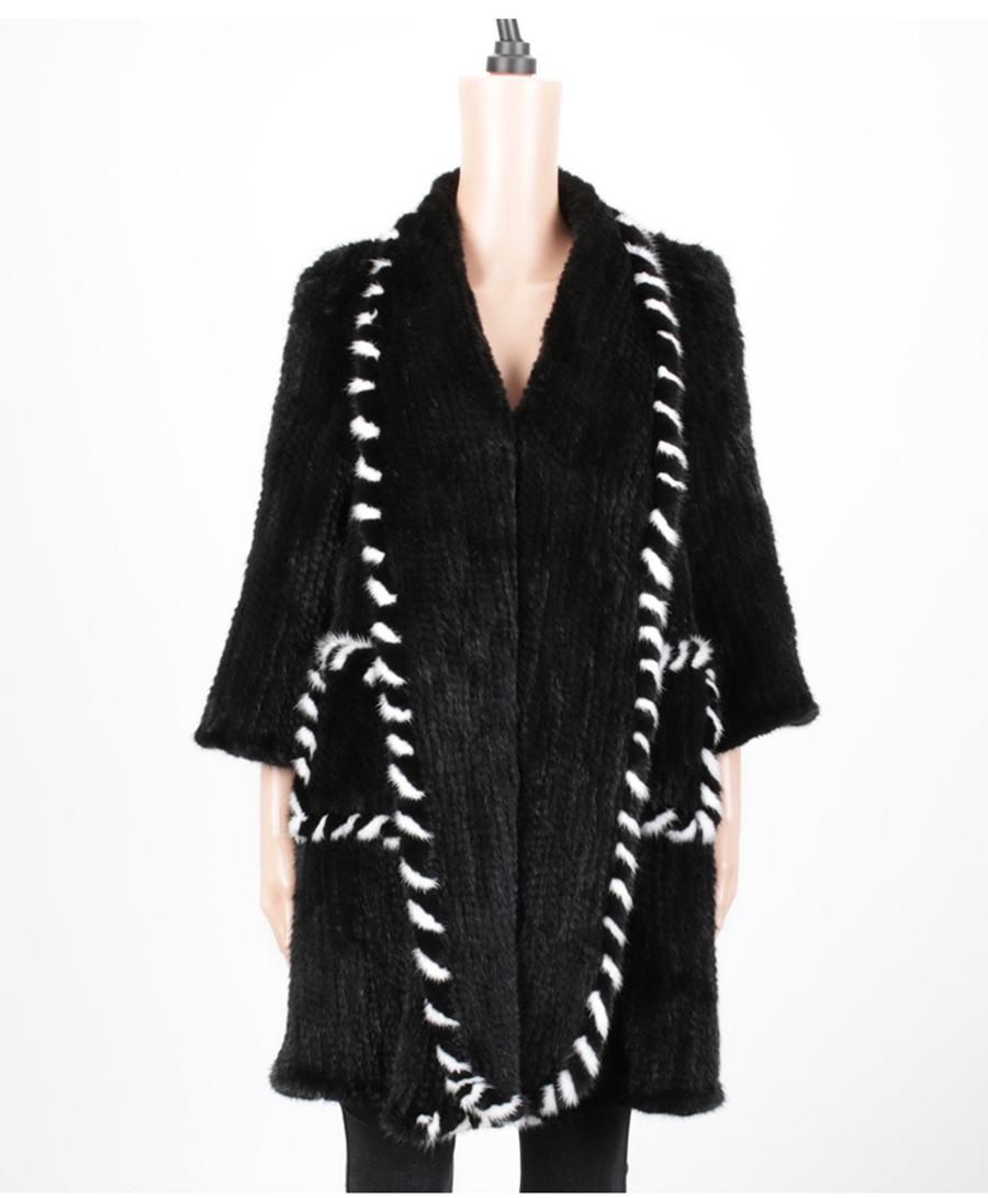 women luxury genuine real knitted mink fur shawls (16)
