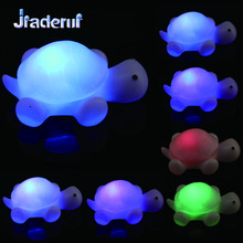 Jiaderui Creative LED Novelty Turtle Night Light 7 Colours Lamp Party Christmas Decoration Colorful Lights Kids Baby Gifts Decor(China)
