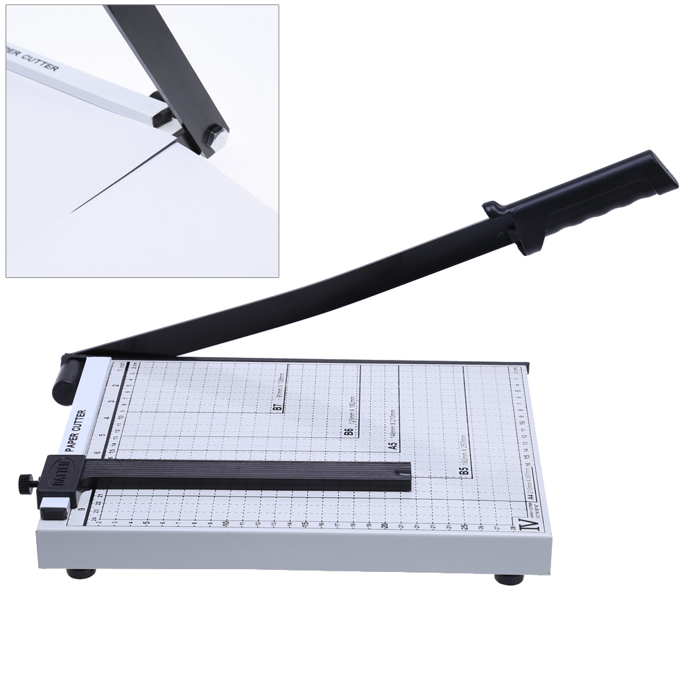 A4 Paper Photo Cutter Guillotine cutting machine Metal Trimmer Knife 5-10 Sheets With Grid For Office School Home Supplies<br>