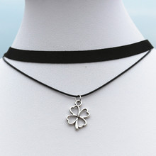 N912 Punk 90's Necklaces For Women Black Velvet Flower Choker Necklace Gothic Handmade Retro Jewelry Statement Multilayer Colar