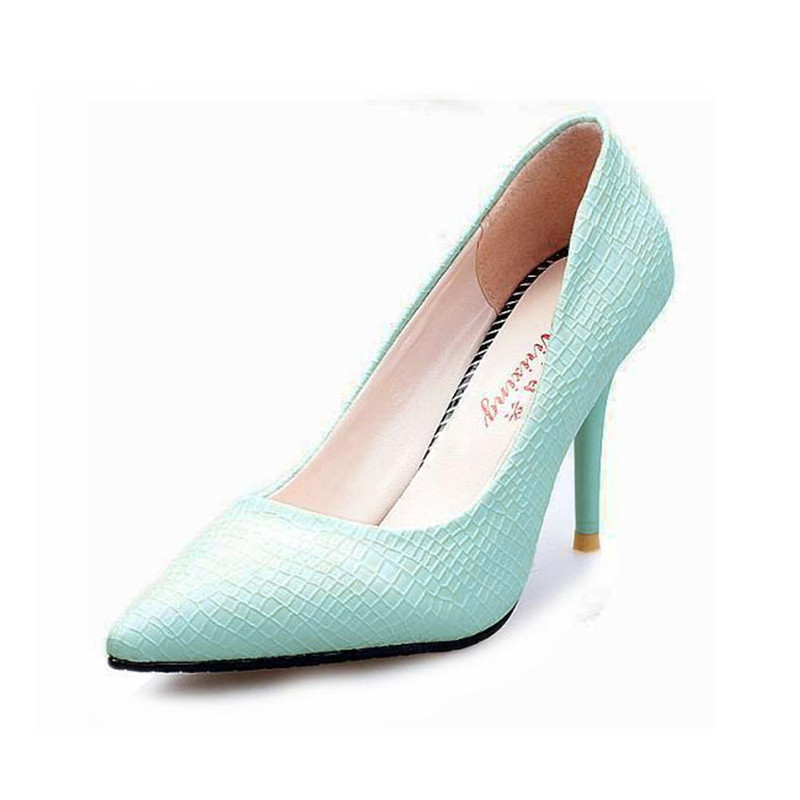 Hot Sale European OL Style Office Career Women Snake Skin Candy Color Pumps Sexy Pointed Toe High Heels Spring Autumn Shoes O127<br><br>Aliexpress