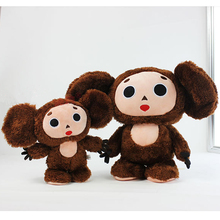 Kawaii Cartoon 20-30cm Russian Movie Cheburashka Monkey Gena Dolls Yebypawka Soft Stuffed Plush Animals Toys For Children