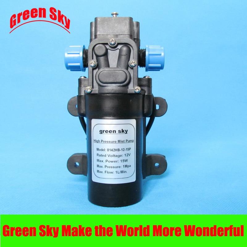 1L/min 12V DC 15W 1Mpa high pressure pump mist fog spray maker electric sprayer diaphragm pump<br>