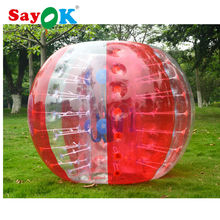 free shipping 0.7mm TPU mixed red 1.5m(5ft) human size inflatable bumper bubble ball body bubble soccer for outdoor sport games