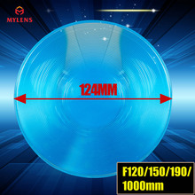 124mm Dia Round Optical PMMA Plastic Big Solar Fresnel Lens long Focal Length 1000mm Solar Concentrator Large Magnifying Glass