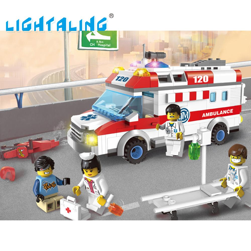Mini Ambulance Nurse Doctor Toys Figure Building Blocks Toys Kids Christmas Gifts Playmobil Lightaling<br><br>Aliexpress