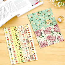 4pcs/set Deco flower sticker, stationery diy masking tape, 4pcs-3design romantic korea drawing market sticker,148*210mm(China)