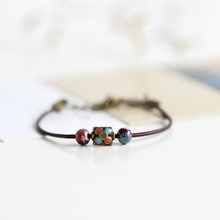 National Wind Restoring Ancient Ways Is The High Temperature Glaze Ceramic Handmade Trinkets Women's Fashion  Bracelets 00968