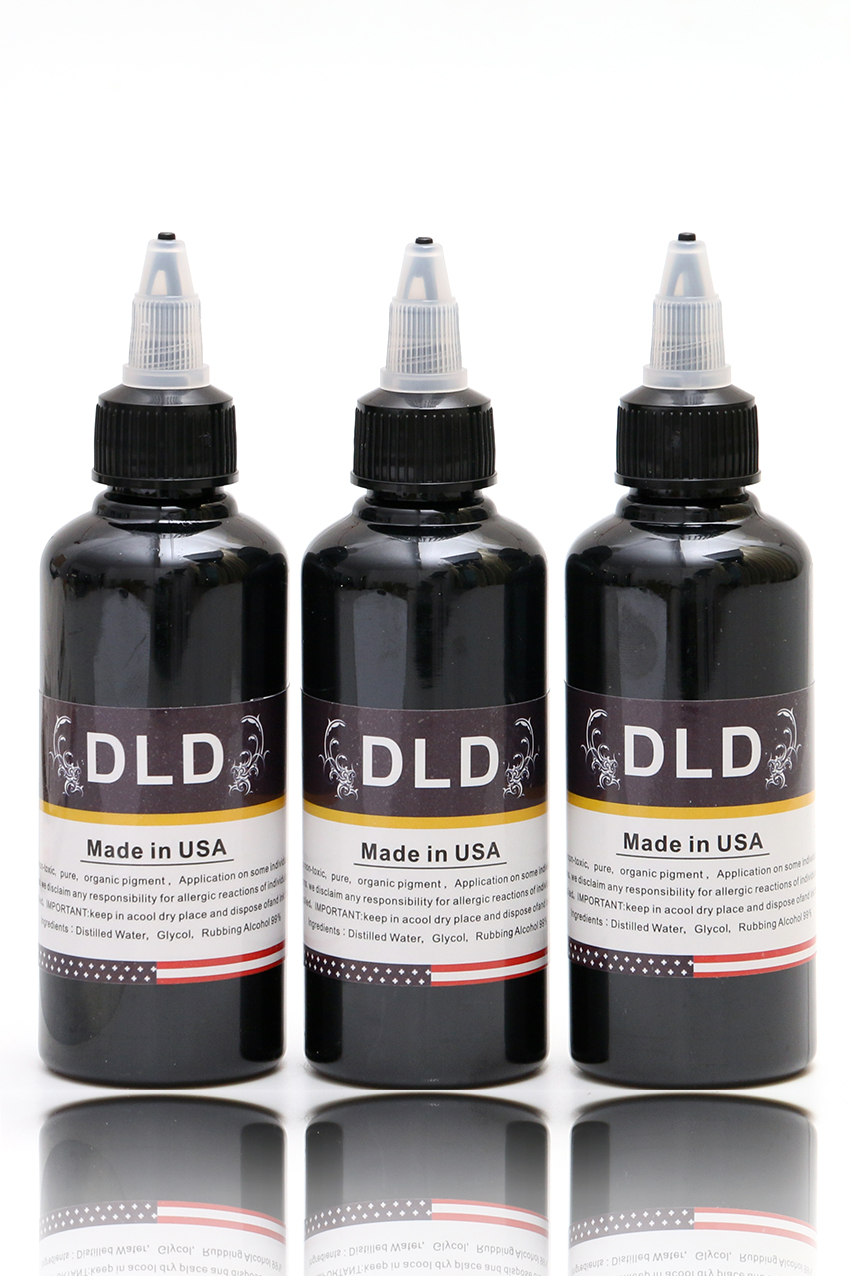 3PCS100 ML/Bottle Airbrush Ink Black/Red/Blue/Tattoo Color for Body Paint Temporary Tattoo Ink Pigment Body Art Color _TA099-1<br>
